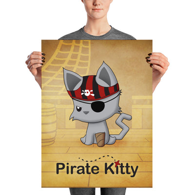 Pirate Kitty Poster