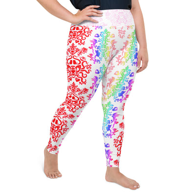 Rainbow Brighter All-Over Print Plus Size Leggings