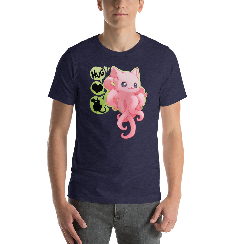 Hugs Love Cotton Candy Mice Short-Sleeve Unisex T-Shirt