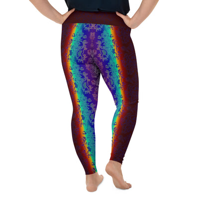 Dark Rainbow All-Over Print Plus Size Leggings