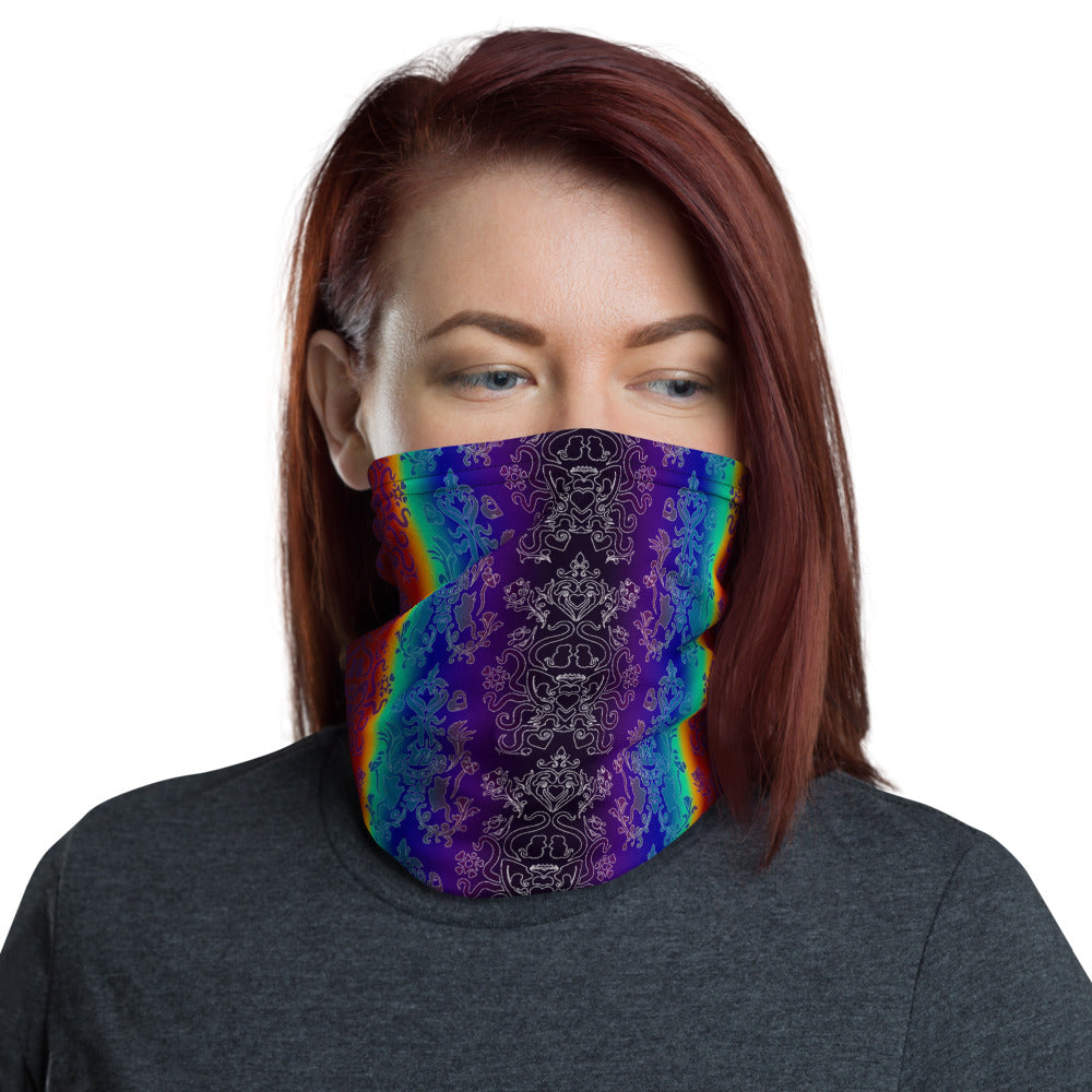 Dark Rainbow Neck Gaiter