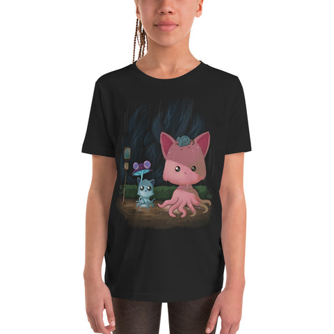 My Neighbor Tentacle Kitty Youth Short Sleeve T-Shirt