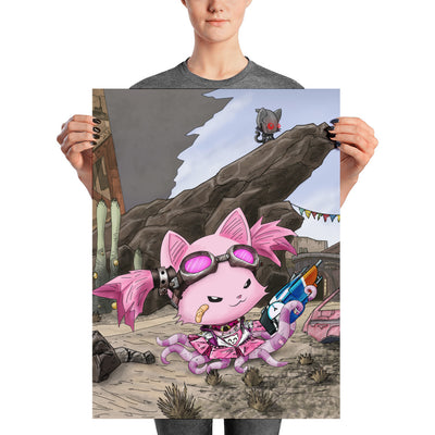 Mad Tentacle Kitty Poster