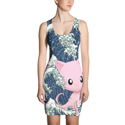 Tentacle Kitty Wave Dress