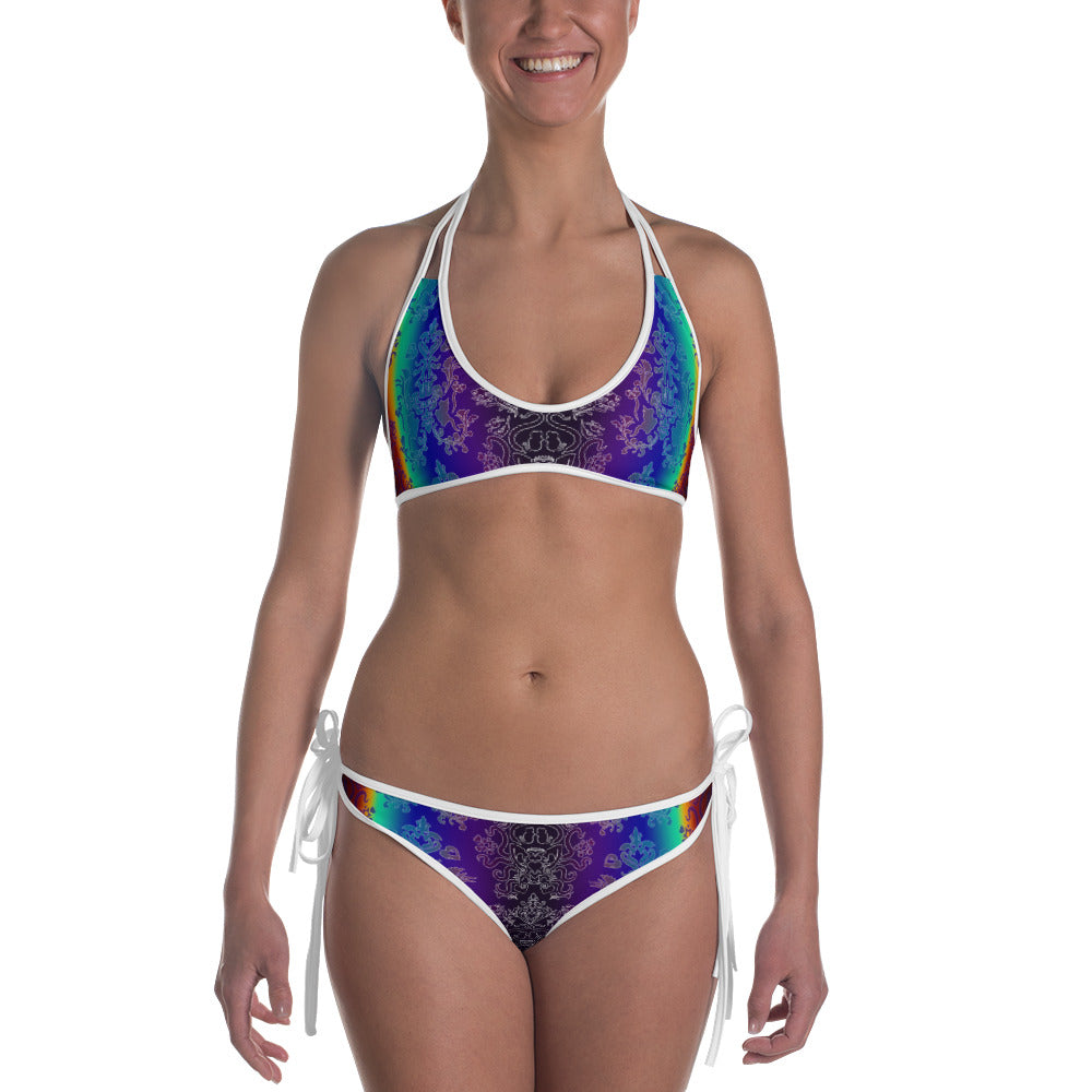 Dark Rainbow/Rainbow Brighter Two Sided Bikini Set
