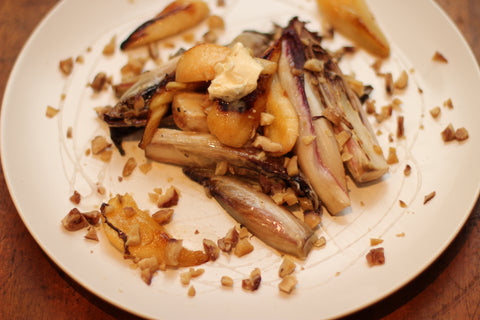 Red endive, Pears & Chestnuts