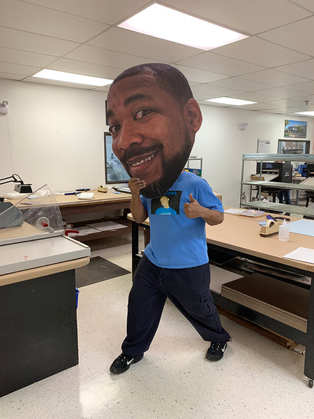Big Head Cutout