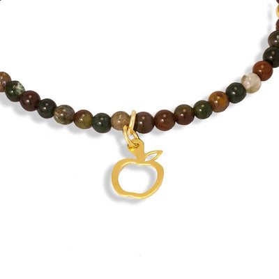Handmade Gemstone Necklace Indian Agate - Anthos Crafts
