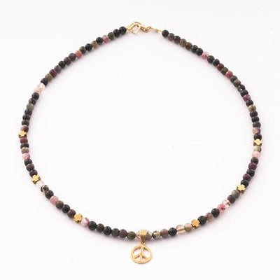 Handmade Gemstone Necklace Tourmaline - Anthos Crafts