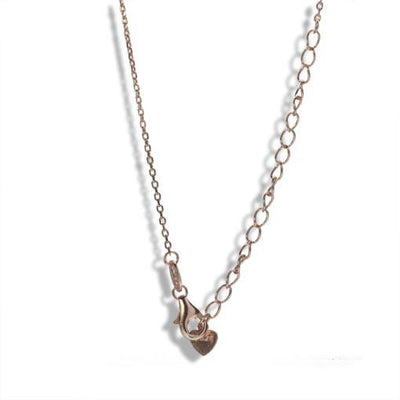 Short Rose Gold Plated Silver Necklace With Clear Cubic Zirconia Target - Anthos Crafts