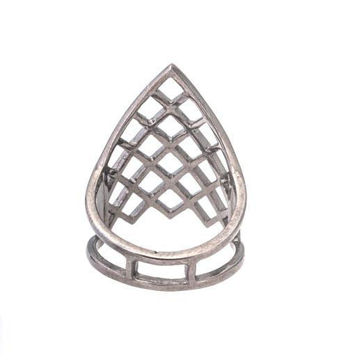 Rhodium Plated Silver Ring - Anthos Crafts