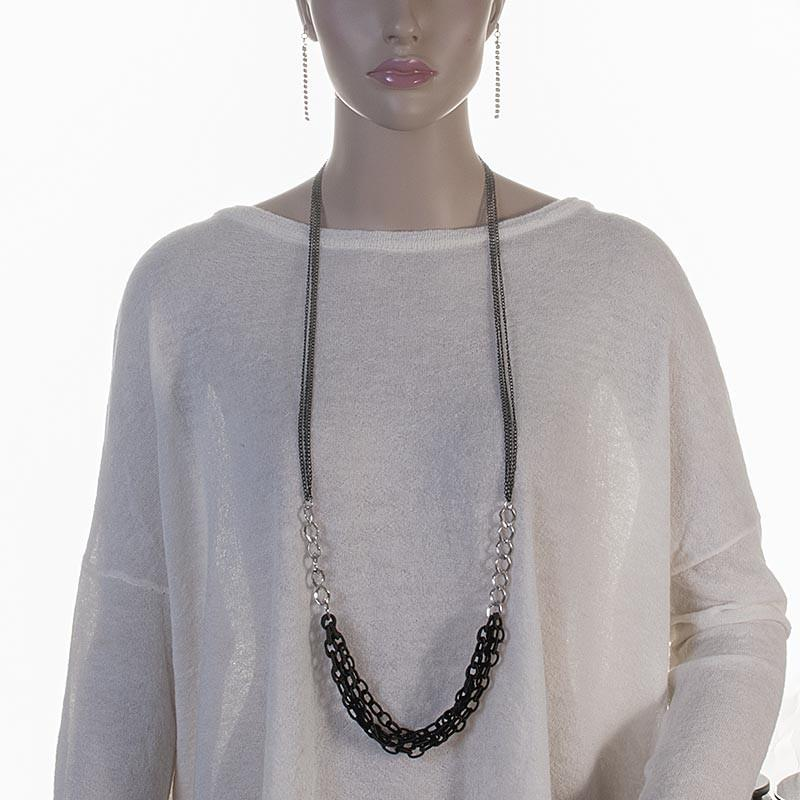 Long Chain Necklace Black