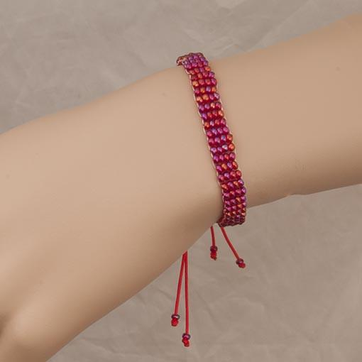 Handmade Red Beaded Bracelet - Anthos Crafts