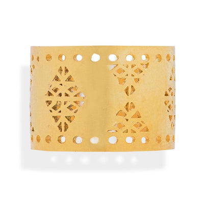 Handmade Gold Plated Silver Ring With Dovecote Patterns - Anthos Crafts