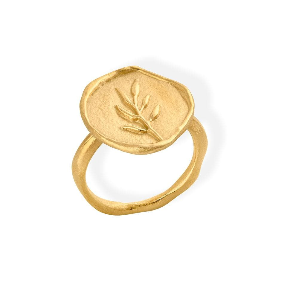 Handmade Gold Plated Ring Portlligat JOIDART - Anthos Crafts
