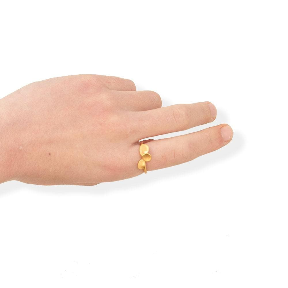 Handmade Gold Plated Ring Branca JOIDART - Anthos Crafts