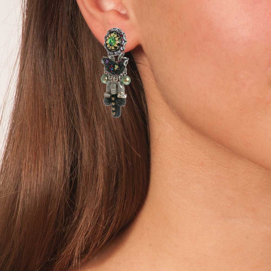 Boho Chandelier Vintage Earrings Ocean Drift - Anthos Crafts