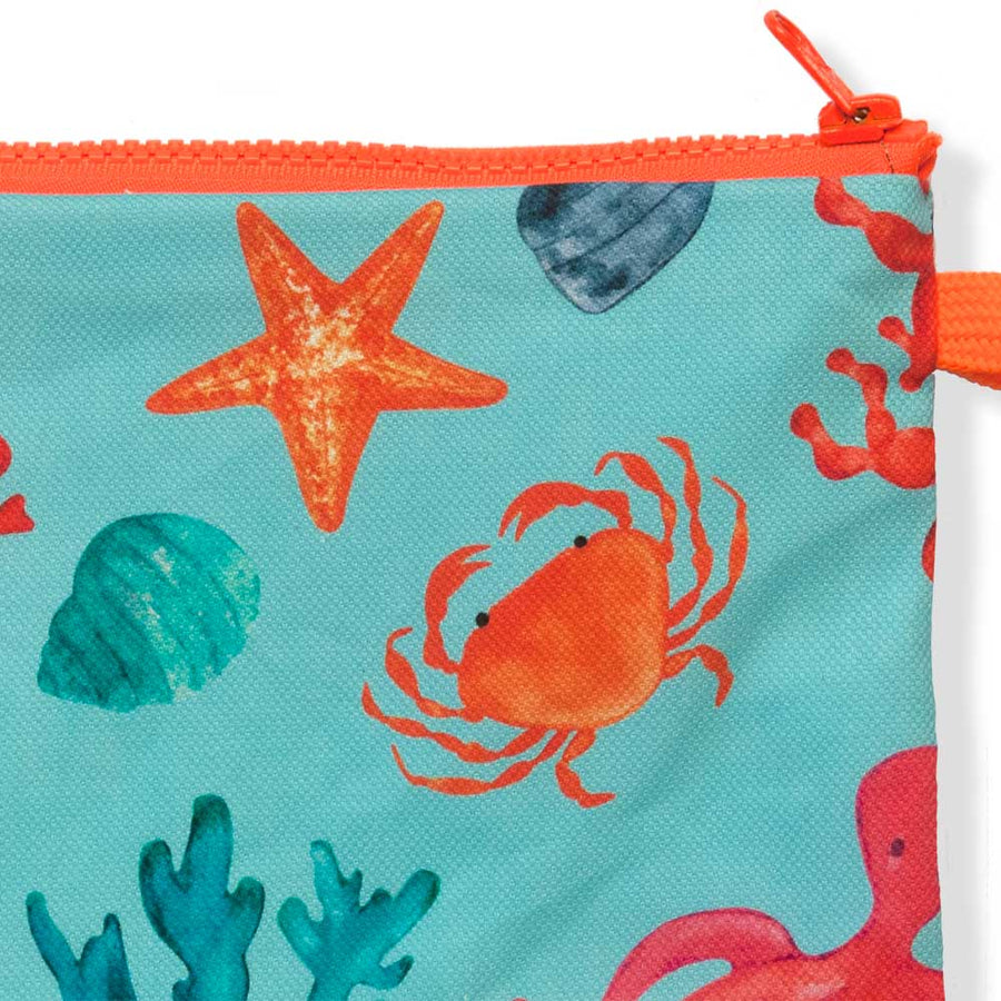 Summer Beach Turquoise Clutch Sea Life