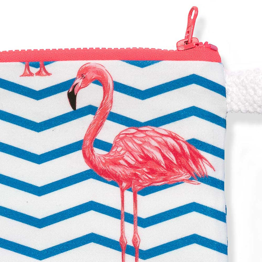 Summer Beach Clutch Pink Flamingos