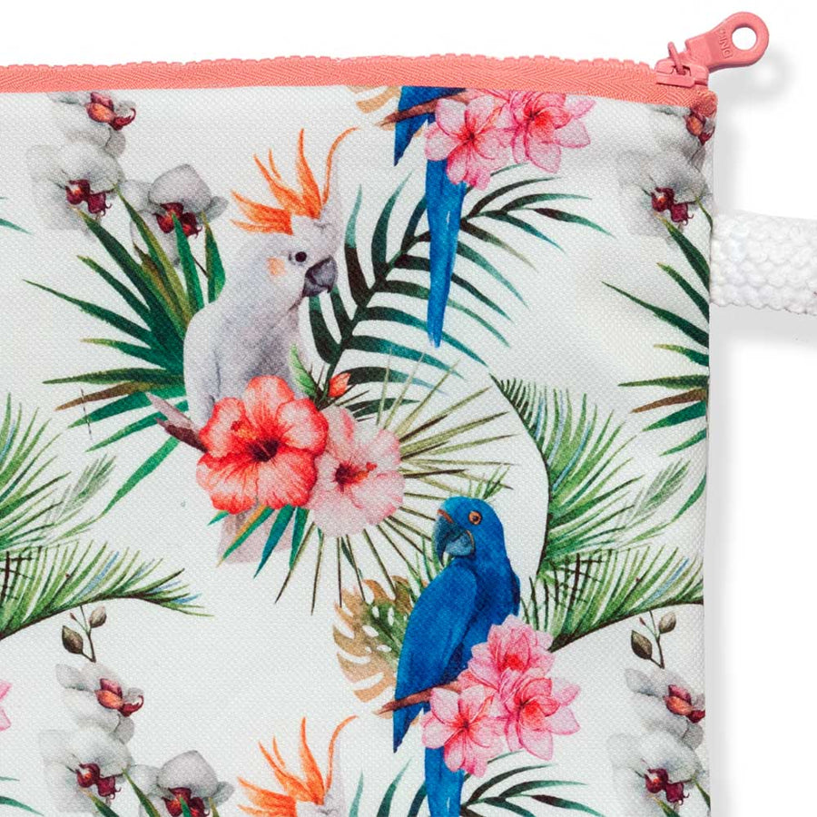 Summer Beach Clutch Flowers & Birds