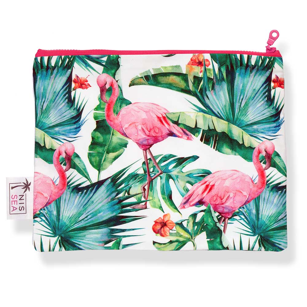 Summer Beach Clutch Floral Flamingos - Anthos Crafts