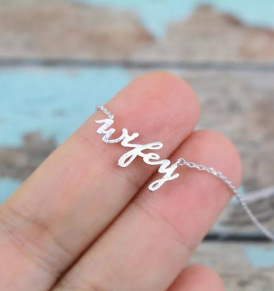 Wifey Dainty Worded Pendant Necklace