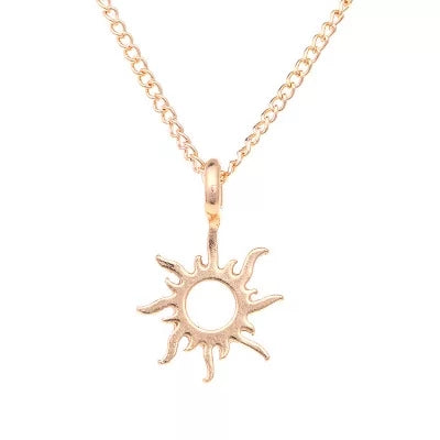 Good Vibes Only Sunburst Inspirational Charm Pendant Necklace