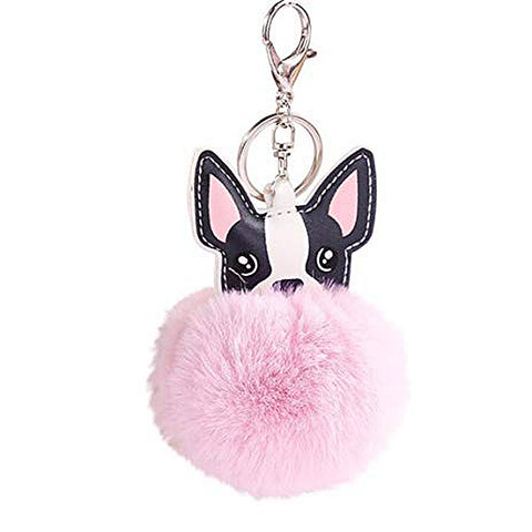 """My Furry Friend"" Pom Pom Handbag Key Charm"