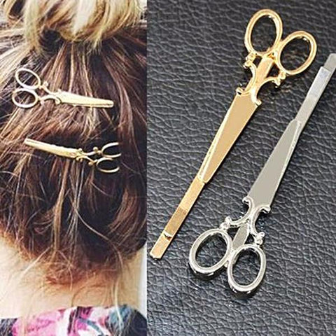 Kitsch Scissor Design Hair Slides