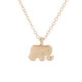 Good Luck Elephant Inspirational Charm Pendant Necklace