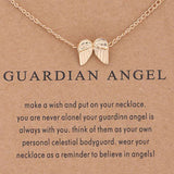 guardian angel wing charm necklace
