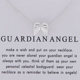 "Guardian Angel ""Believe in Angels"" Inspirational Pendant Charm Wing Necklace"