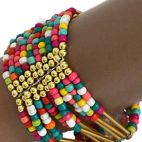 Beaded Bracelets Bohemian Summer Rainbow Bracelet Wear With Love