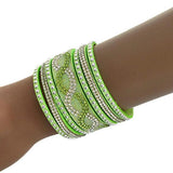 Beaded Bracelets Crystal Embellished Studded Cuff Wear With Love
