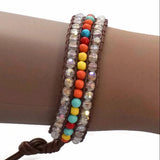Beaded Bracelets Crystal Multi Coloured Bracelet Wear With Love