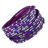 Beaded Bracelets Crystal Slake Wrap Wear With Love