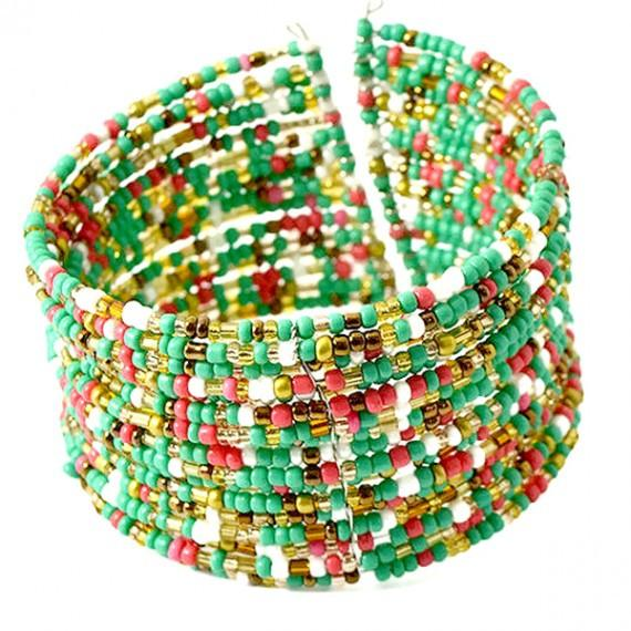 Beaded Bracelets Festival Boho Cuff Wear With Love