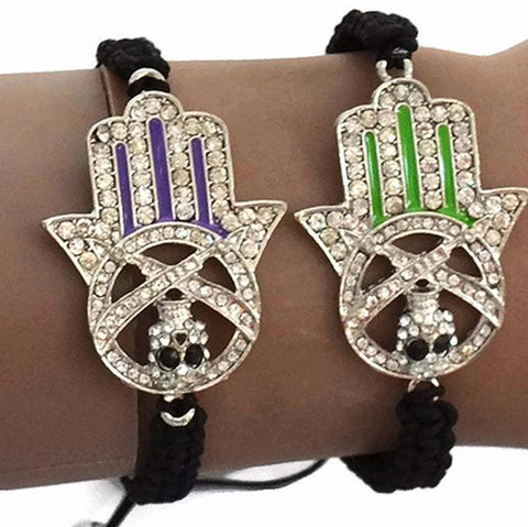 Beaded Bracelets Hamsa Hand Of Fatima Shamballa Charm Bracelet Wear With Love