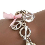 Beaded Bracelets Pearl Charm Bracelet Wear With Love