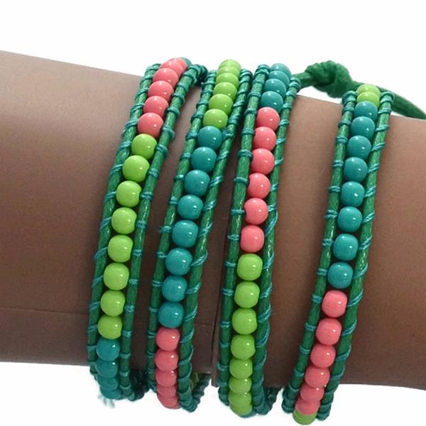 Beaded Bracelets Summer Of Love Wrap Strand Bracelet Wear With