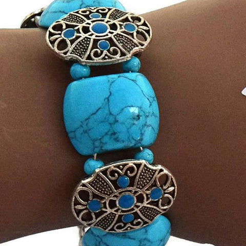 Beaded Bracelets Tibetan Silver Turquoise Bracelet Wear With Love