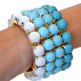 Beaded Bracelets Wide Statement Stretch Wear With Love