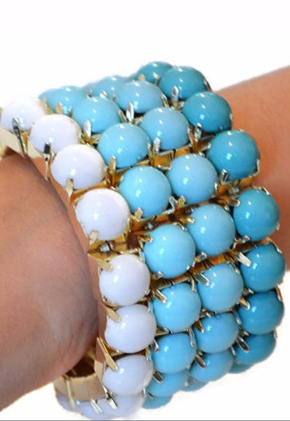 Beaded Bracelets Wide Statement Wear With Love