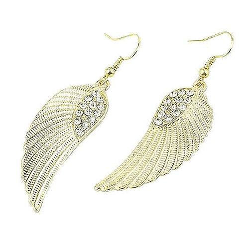 Chanderlier/drop Earrings Angel Crystal Feather Wing Wear With Love