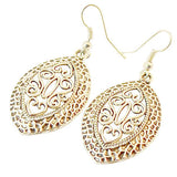 Chanderlier/drop Earrings Art Deco Oval Filigree Wear With Love