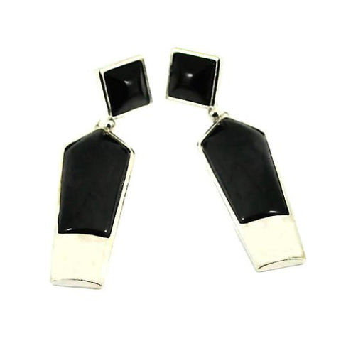 Chanderlier/drop Earrings Black  Geometrical Drop Wear With Love