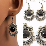 Chanderlier/drop Earrings Bohemian Silver Tibetan Wear With Love