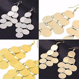 Chanderlier/drop Earrings Flat Coin Drop Wear With Love