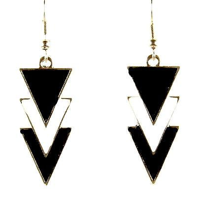Chanderlier/drop Earrings Geometric Monochrome Wear With Love