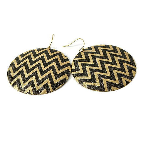 Chanderlier/drop Earrings Large Metal Pattern Disc Wear With Love